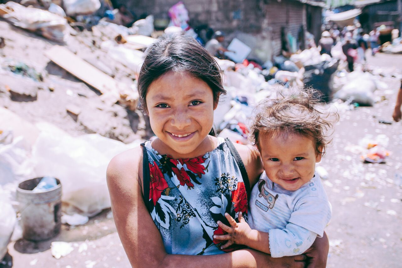 Guatemala child holding sibling