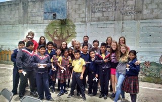 Guatemala students and mission trip team